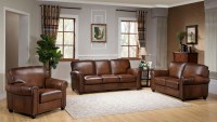 Royale Camel Brown Leather Living Room Set, C9755S2839LS