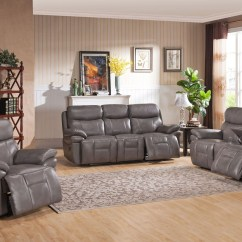 White Reclining Sofa And Loveseat Double Slipcover Summerlands Smoke Grey Leather Living Room Set ...