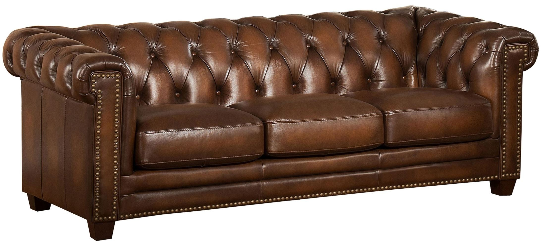 Stanley Park II Brown Leather Sofa from Amax Leather  Coleman Furniture