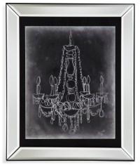 Chalkboard Chandelier Sketch I Wall Art, 9900-537AEC ...
