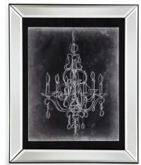 Chalkboard Chandelier Sketch IV Wall Art, 9900-537EEC ...