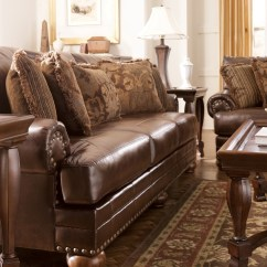 Fresco Antique Durablend Upholstery Sofa Really Large Corner Sofas Chaling Living Room Set From Ashley