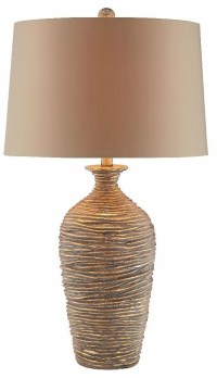 Palladio Resin Antique Gold Table Lamp from Steinworld