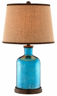 Havasu Azure Blue and Brown Glass Table Lamp from ...