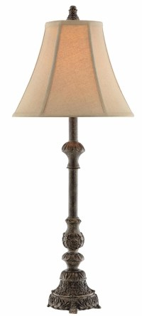 Adella Resin Weathered Grey Table Lamp from Steinworld