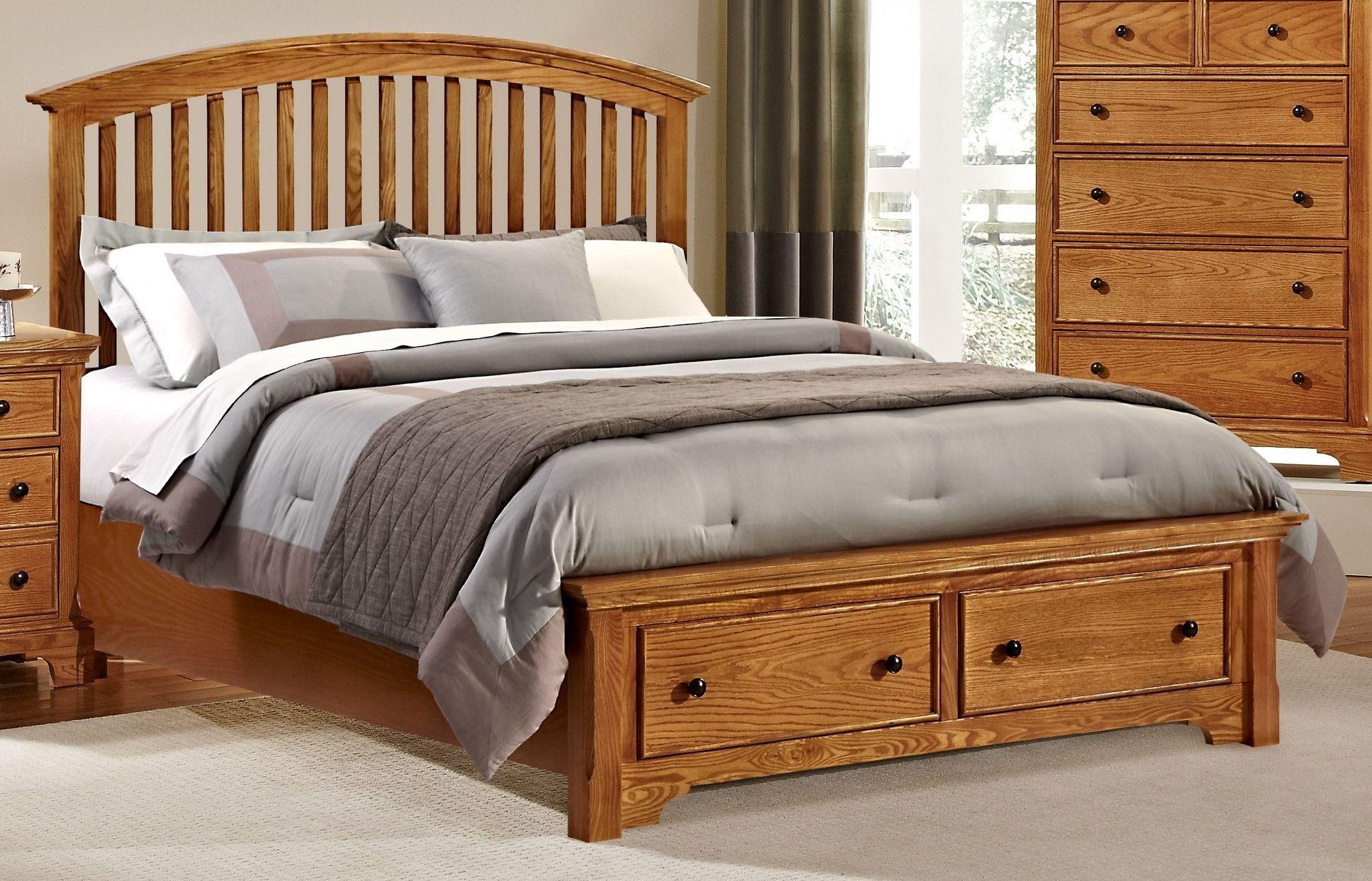 Forsyth Medium Oak Arched Storage Bedroom Set from Vaughan Bassett  Coleman Furniture