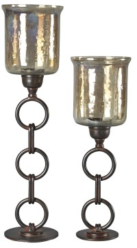 Oana Bronze Candle Holder Set of 2, A2000202, Ashley