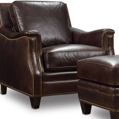 Hooker Leather Chair Hanging White Bradshaw Brown From Coleman Furniture