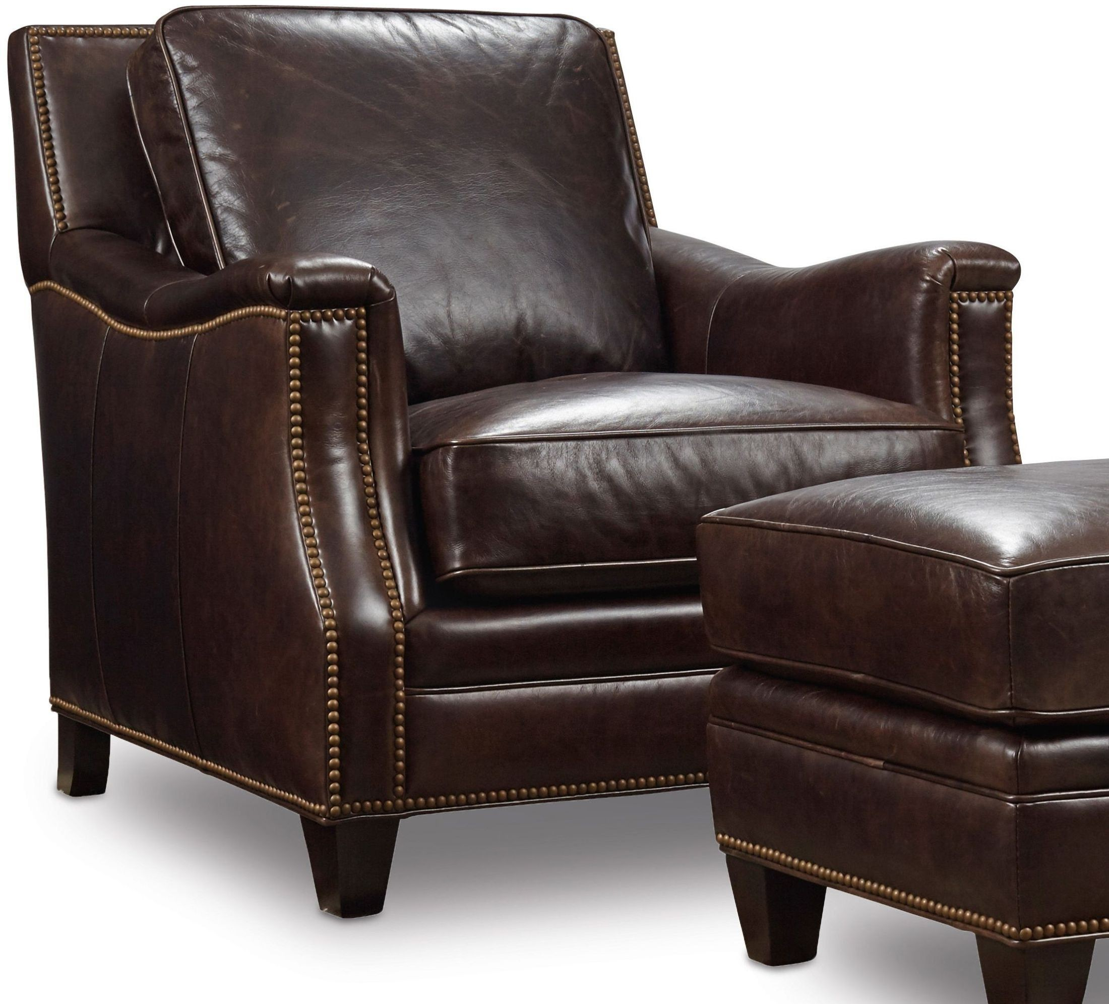Hooker Leather Chair Bradshaw Brown Leather Chair From Hooker Coleman Furniture