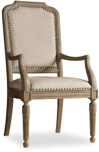 Corsica Light Wood Upholstered Arm Chair Set of 2, 5180 ...
