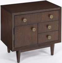 Standing Room Only Walnut Nightstand from Progressive ...