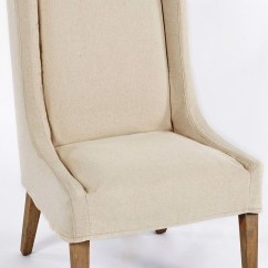 White Slipcovered Chair Cow Hide Chairs Kiley Biscotti And Off Accent From