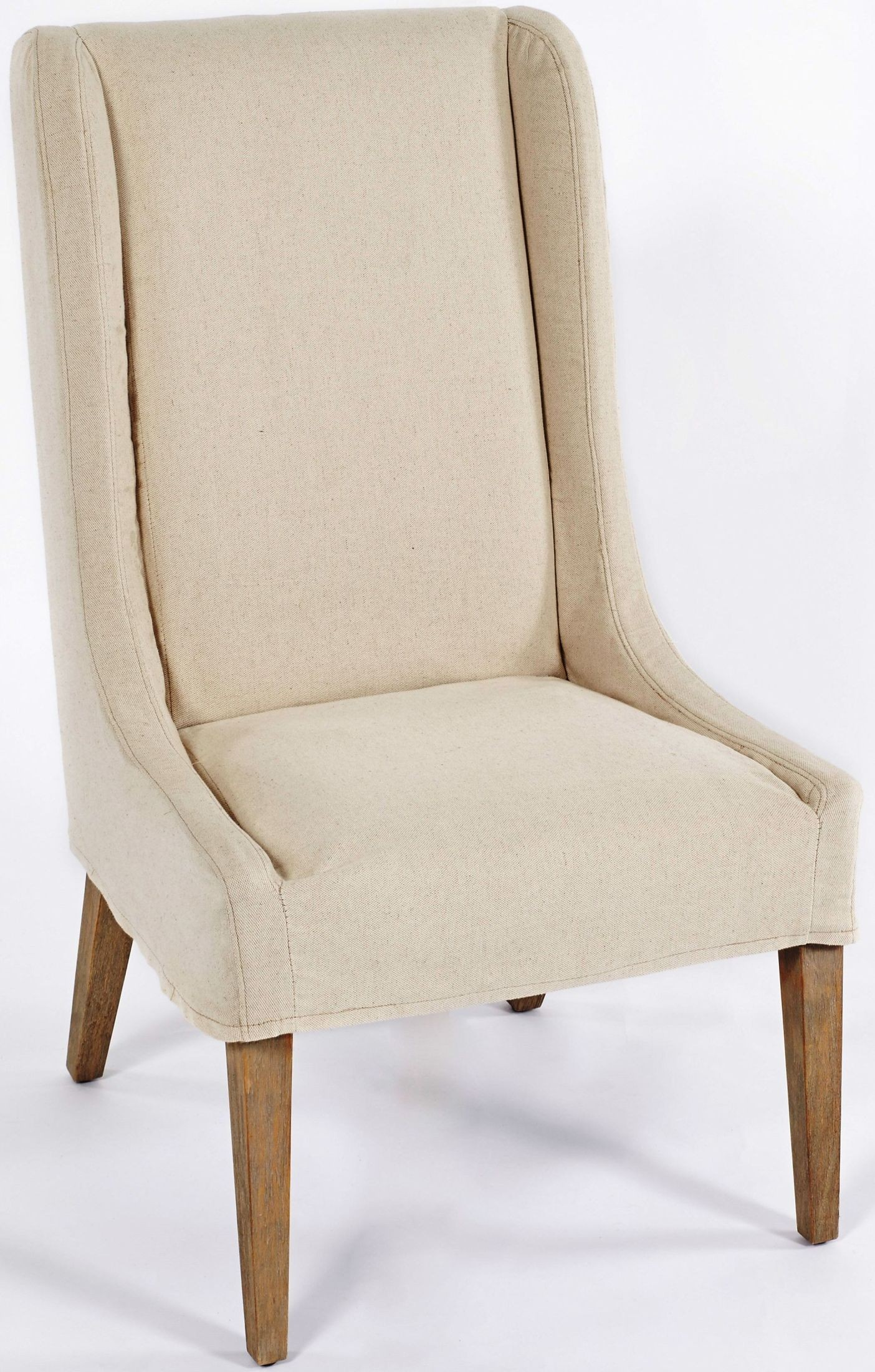 Off White Accent Chair Kiley Biscotti And Off White Slipcovered Accent Chair From