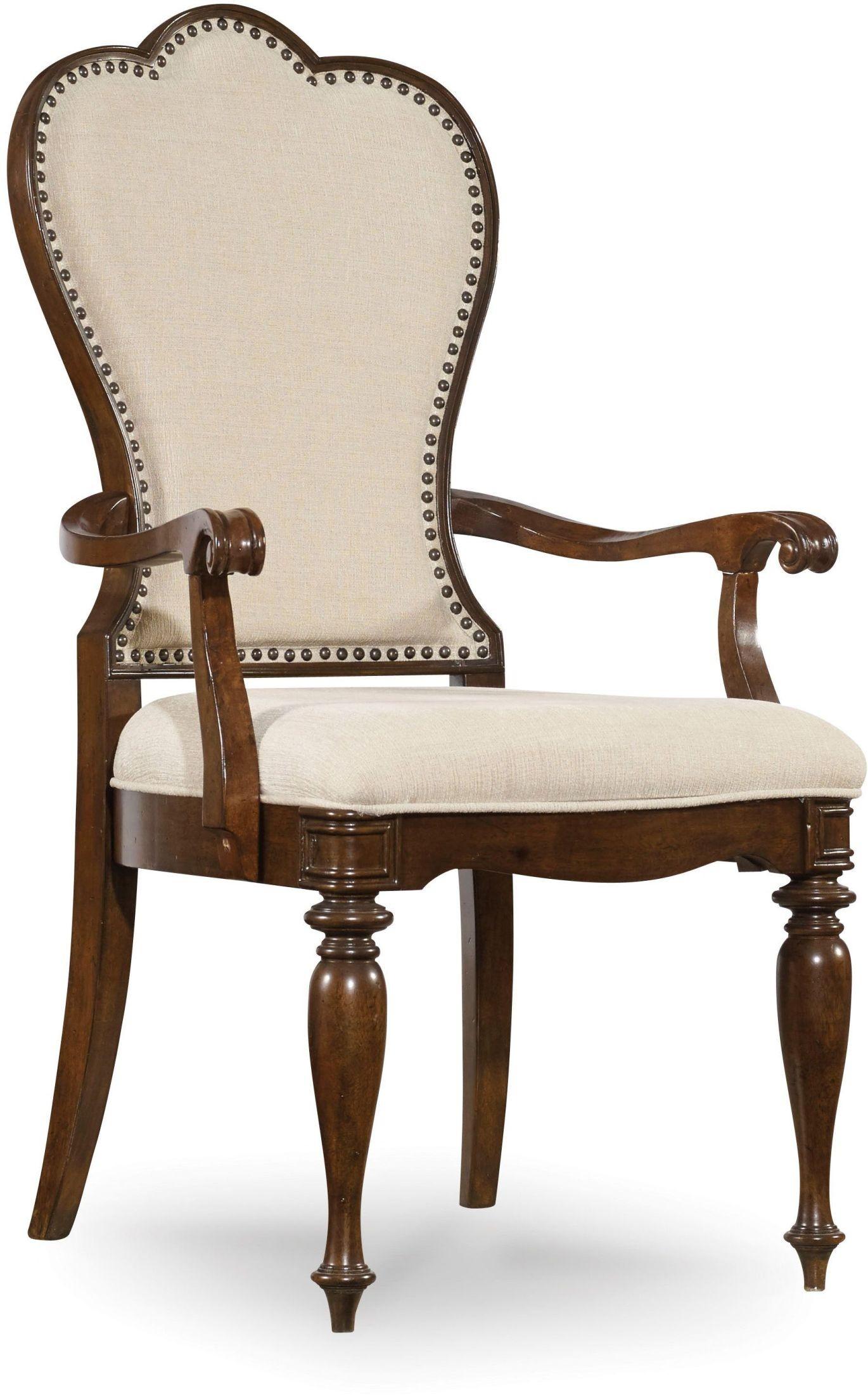 arm of chair walmart baby rocking leesburg beige upholstered set 2 from hooker