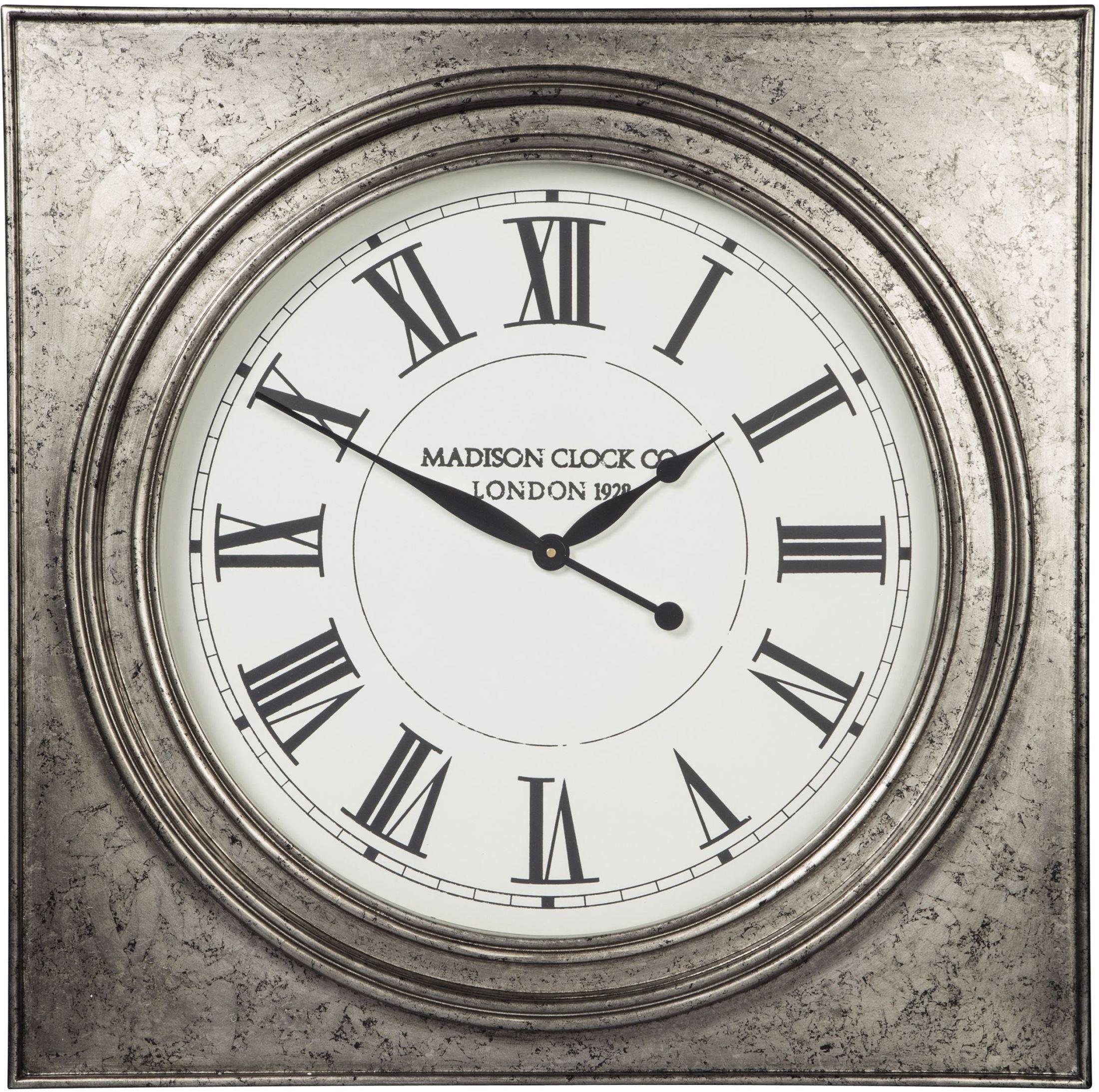 Pelham Antique Silver Wall Clock from Ashley