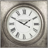 Pelham Antique Silver Wall Clock from Ashley
