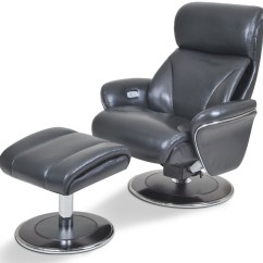 Reclining Chair With Ottoman Leather Swing India Ergonomic Slate And From