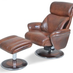 Ergonomic Chair And Ottoman King Hickory Chairs Leather Saddle Reclining From
