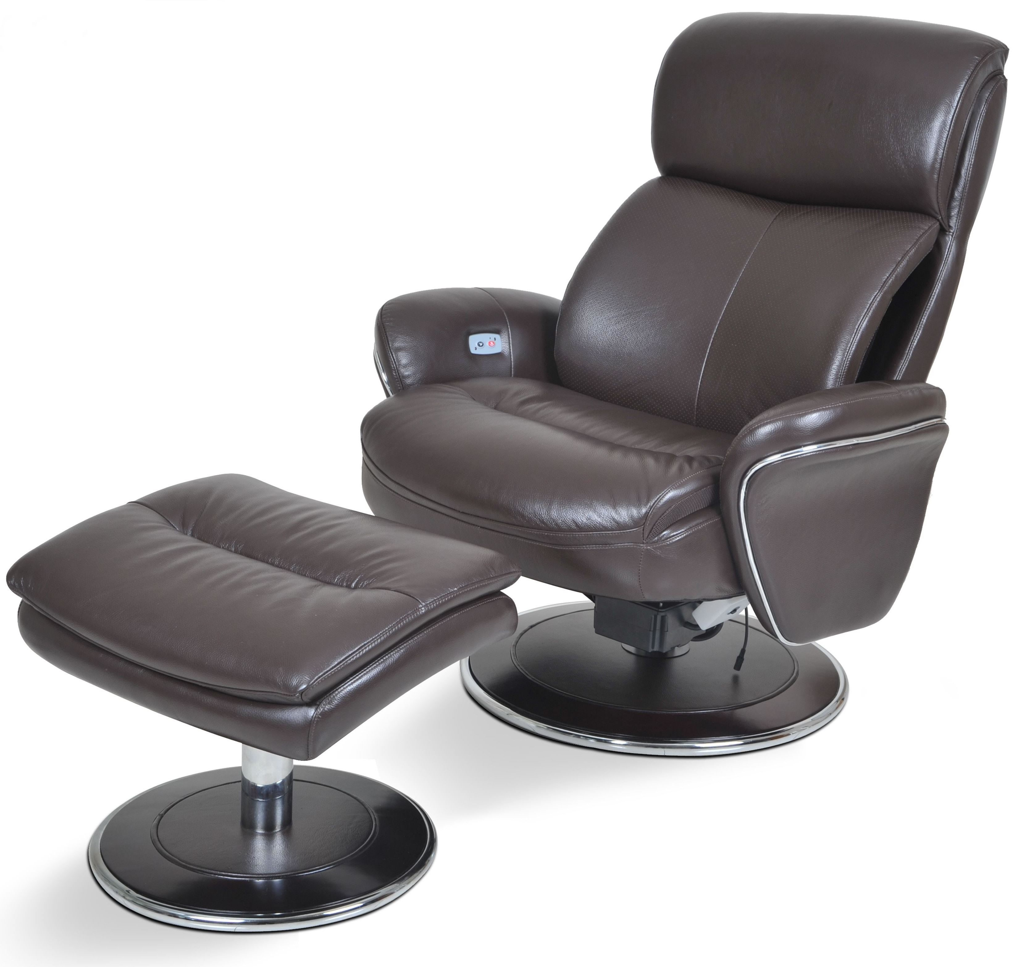 ergonomic chair and ottoman sleek office big man leather espresso from