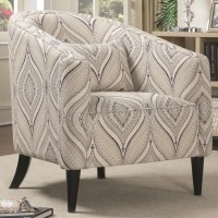 Claxton Multi-Color Printed Linen Accent Chair from ...