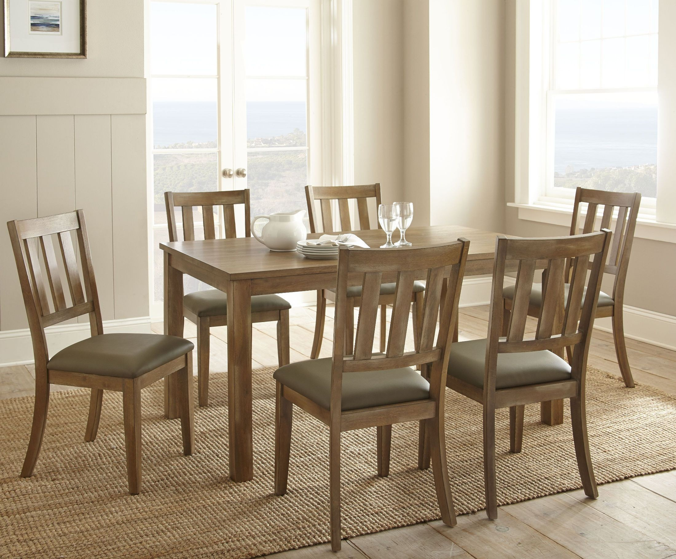 cheap pine dining chairs electric reclining for elderly ander washed rectangular room set ad450t
