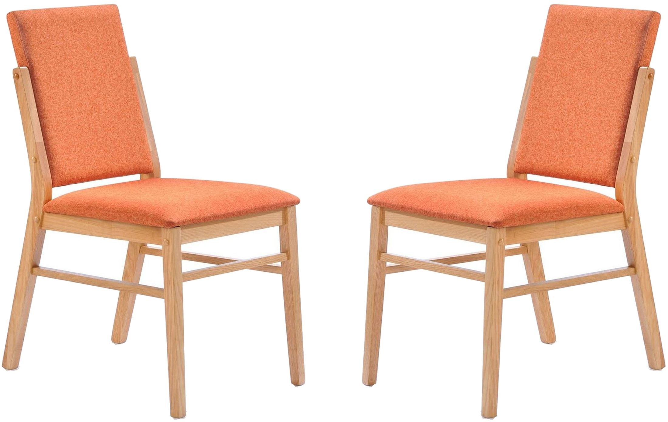 orange side chair seat covers with elastic simply scandinavian bedford set of 2