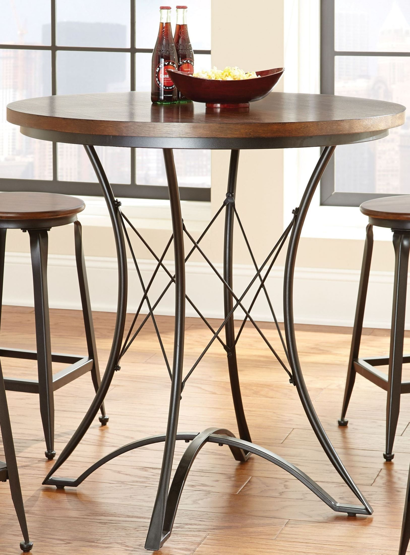 Adele Round Counter Height Dining Table from Steve Silver