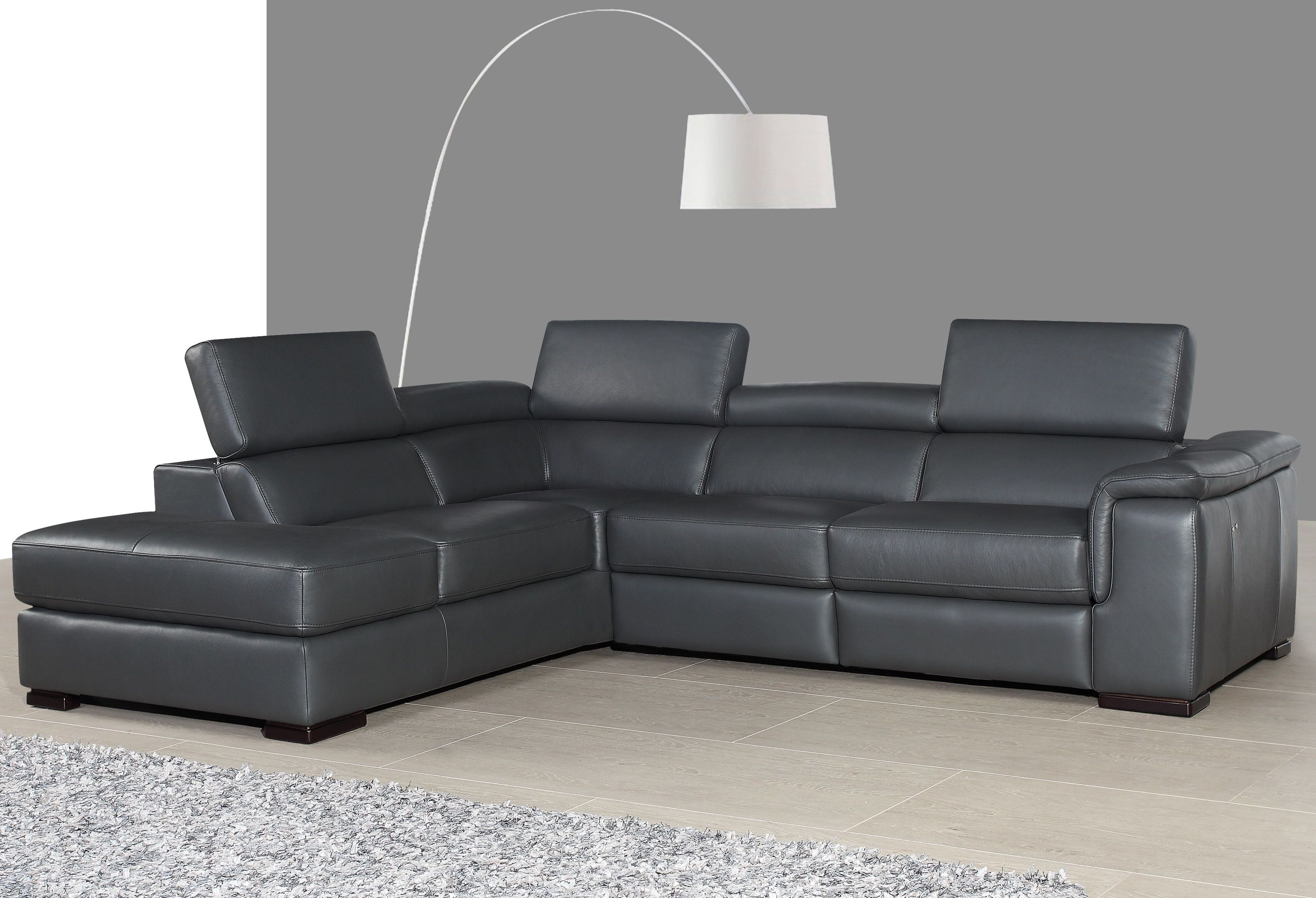 gray leather sofa recliner l shaped sets and their colour agata slate power reclining laf sectional