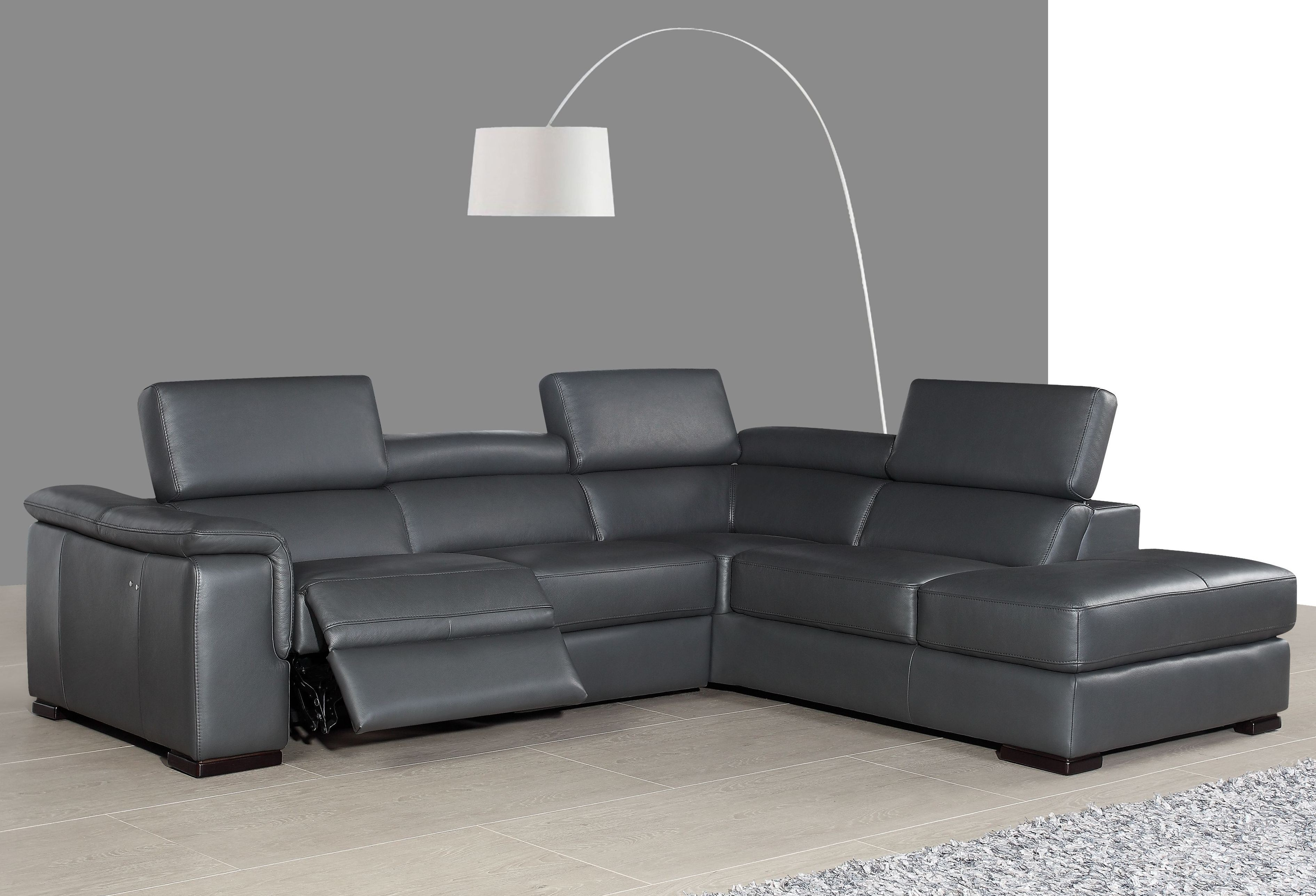 gray leather sofa recliner ikea lack table hack agata slate power reclining raf sectional