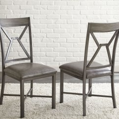 Gray Side Chair Barrel Dining Chairs With Casters Alamo Set Of 2 Al450s Steve Silver