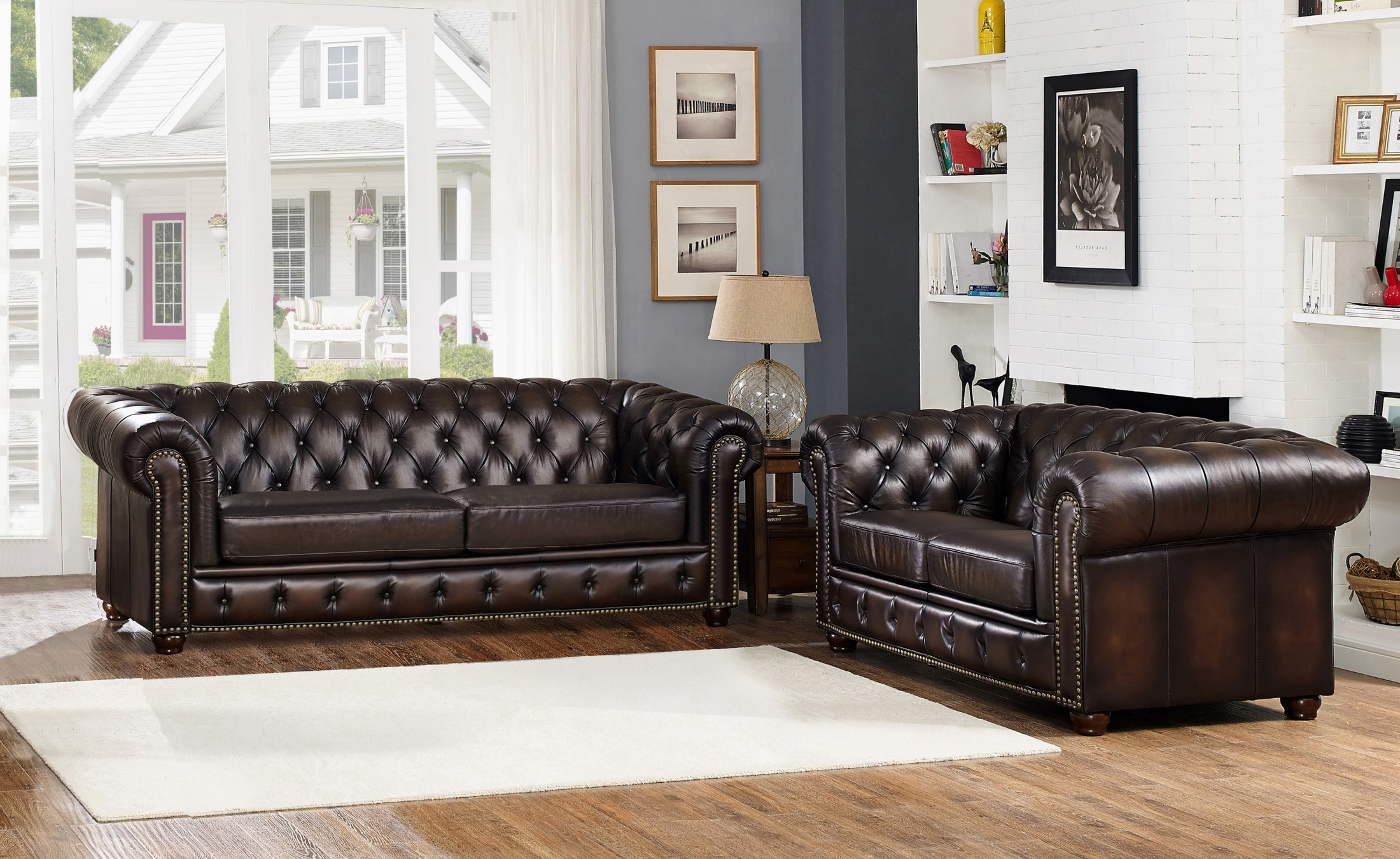 albany leather sofa chai microsuede bed brown living room set from amax