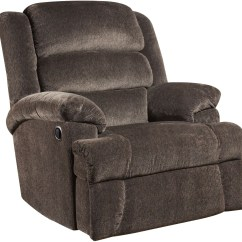 Big And Tall Recliner Chair A Half Slipcover Capacity Aynsley Charcoal Microfiber