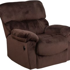 Push Button Recliner Chairs Wicker Argos Contemporary Sharpei Chocolate Microfiber Power