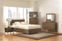 Arcadia Weathered Acacia Queen Platform Storage Bed from ...
