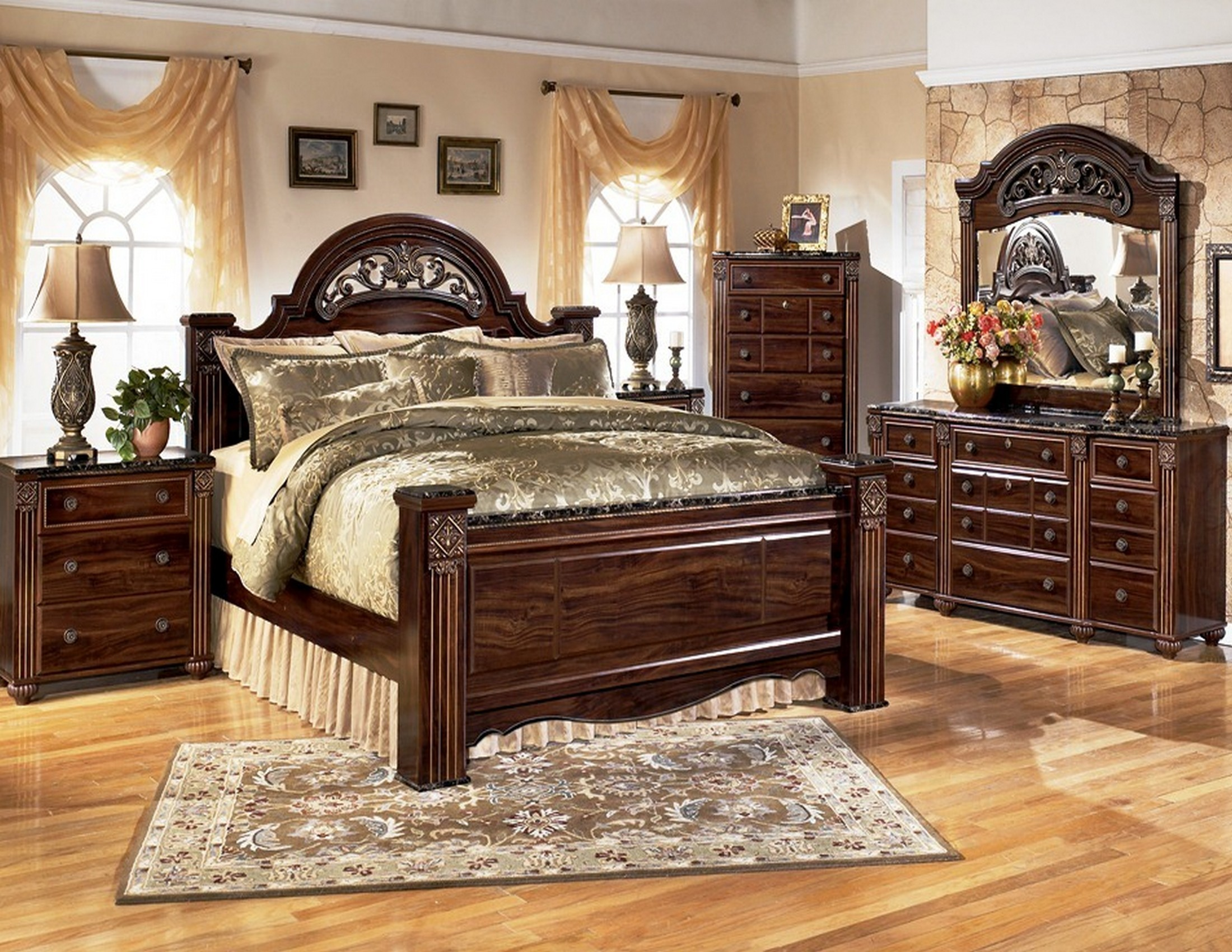 Gabriela Poster Bedroom Set from Ashley B347  Coleman Furniture