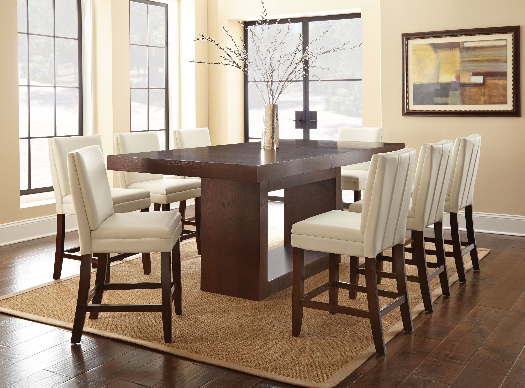 Counter Height Dining Room Chairs Antonio Extendable Rectangular Counter Height Dining Room