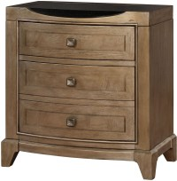 Uptown Translucent Champagne Nightstand from Avalon ...