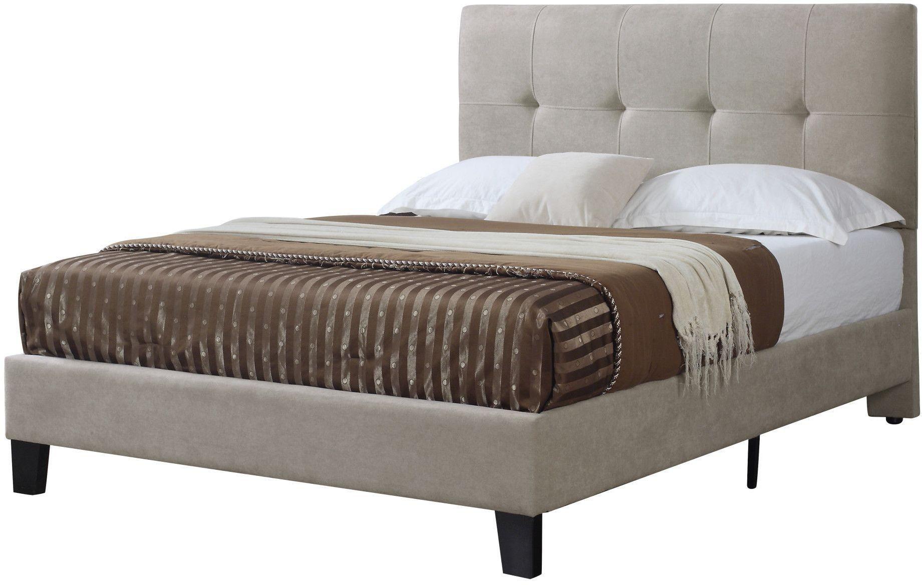 Harper Taupe Cal King Upholstered Platform Bed From