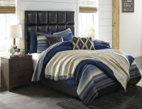 Contemporary Black Upholstered Panel Bedroom Set from ...