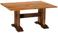 "Barnwood Farmhouse 96"" Traditional Oak Top Rectangular ..."