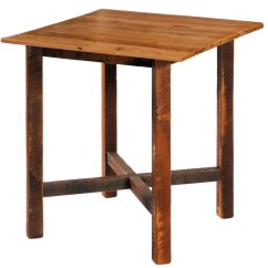 Black Square Pub Table And Chairs Ultra Comfort Lift Chair Barnwood 40 Quot Antique Oak Top From