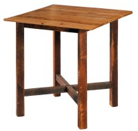 "Barnwood 40"" Antique Oak Top Square Pub Table from ..."