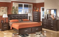 Aleydis Upholstered Platform Storage Bedroom Set from