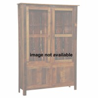 Barnwood 12 Gun Cabinet With Hickory Legs from Fireside ...