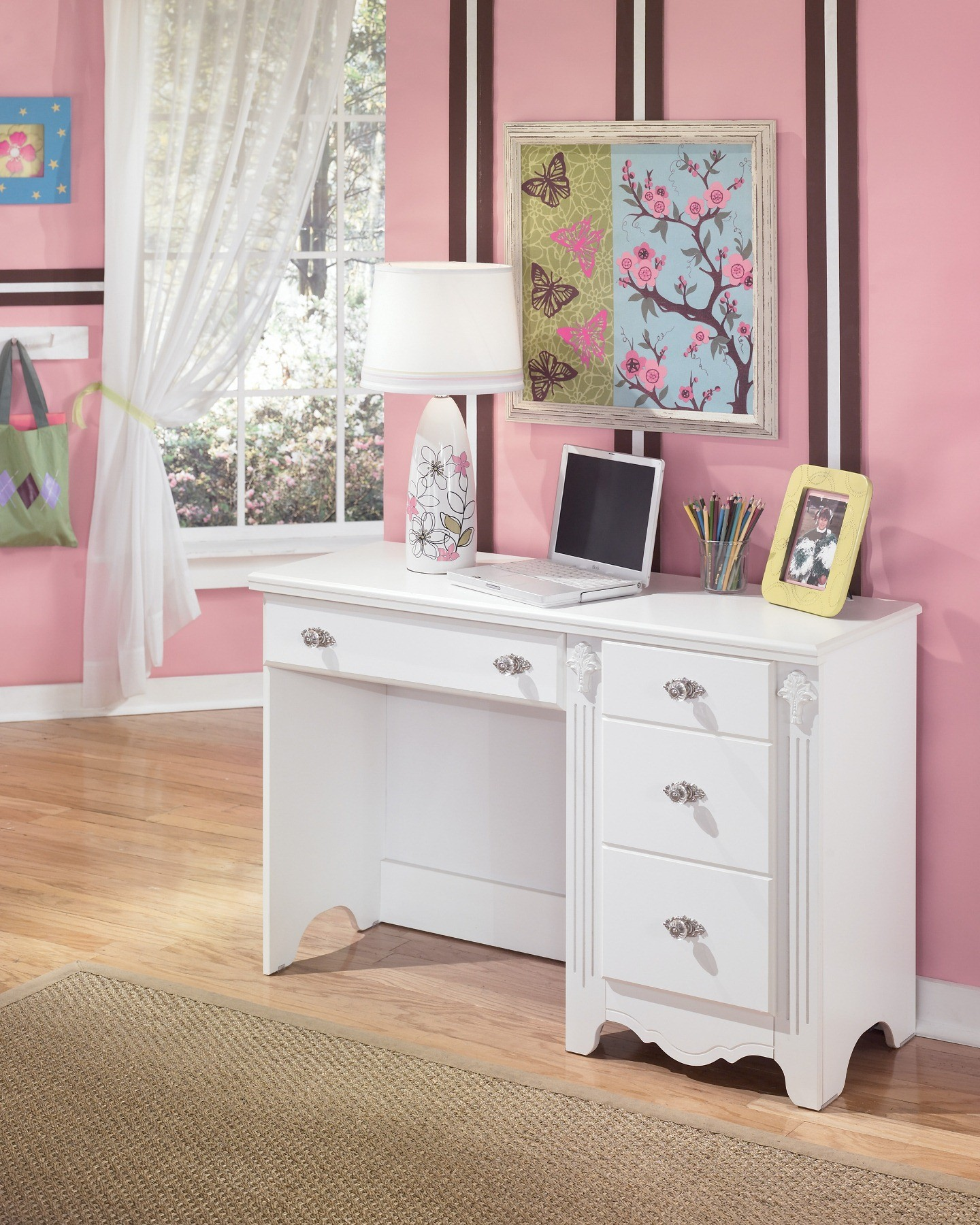 Exquisite Bedroom Desk from Ashley B18822  Coleman Furniture