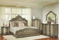 Seville Translucent Platinum Upholstered Panel Bedroom Set ...