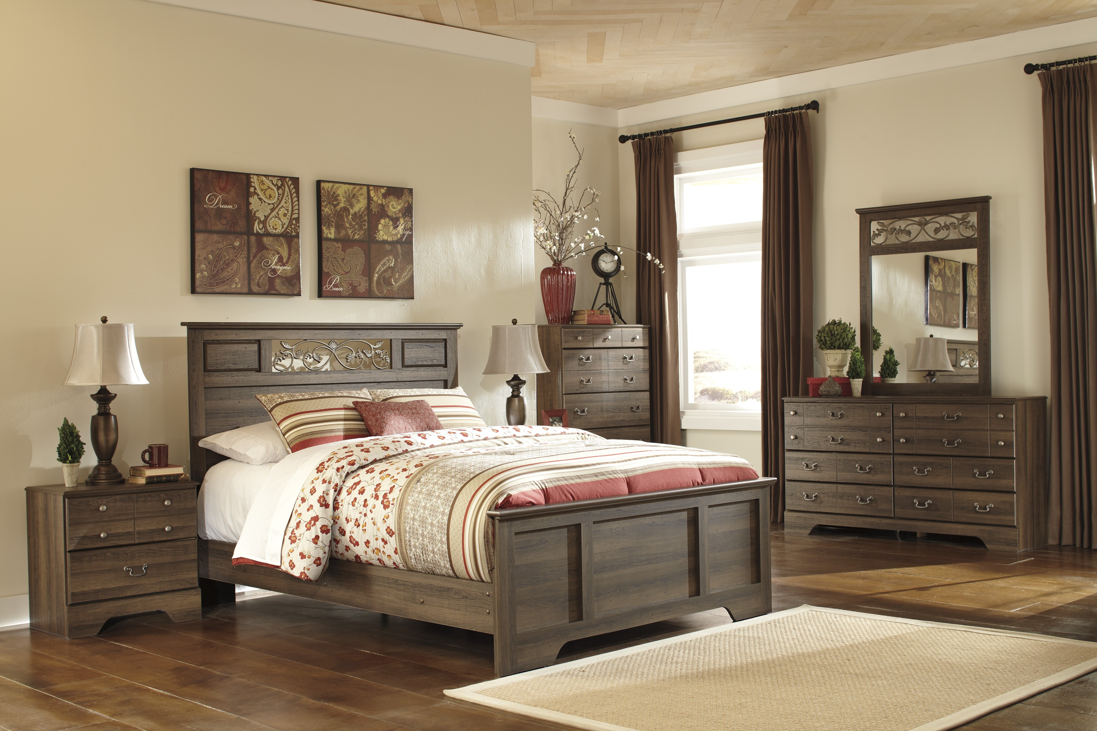 Allymore Panel Bedroom Set From Ashley B216 55 51 98