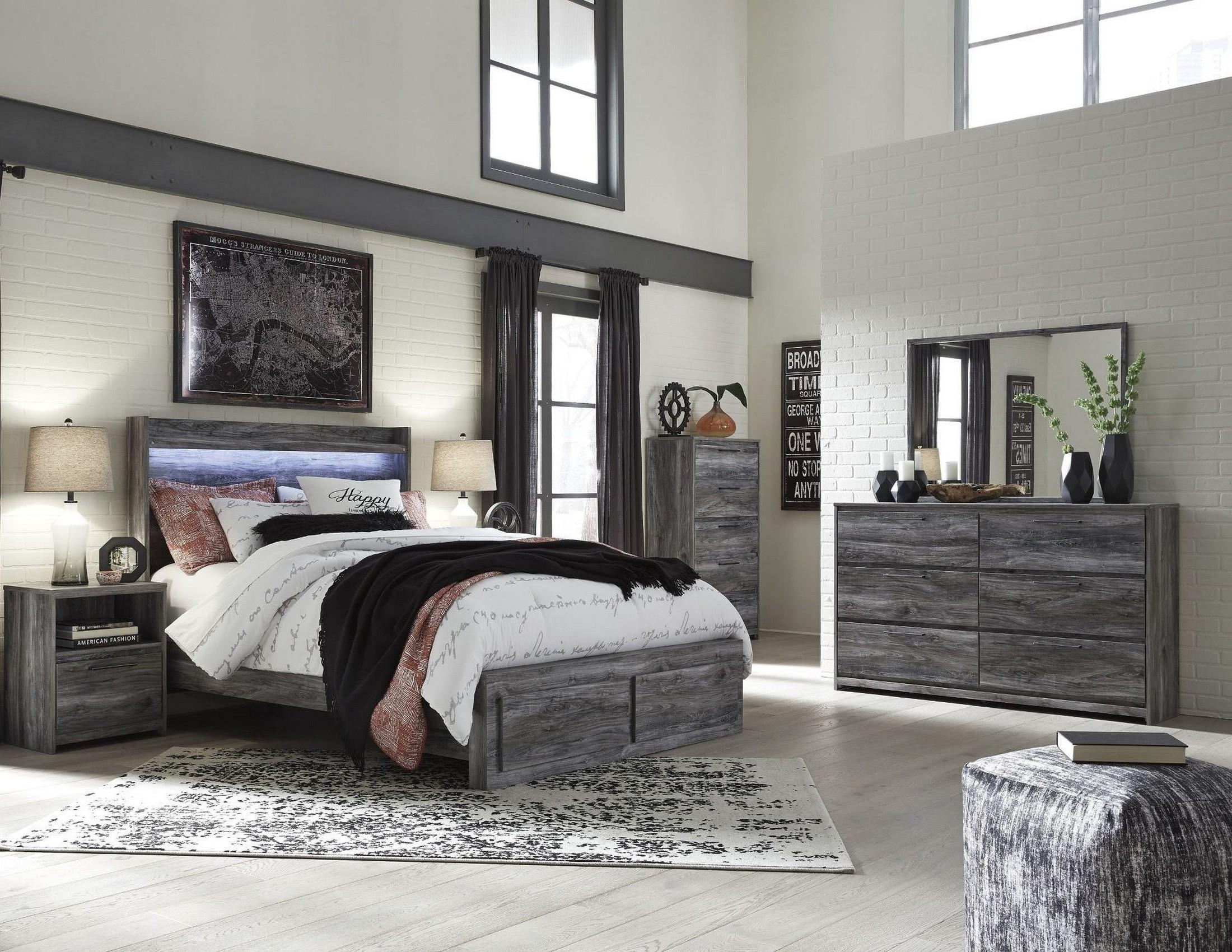Baystorm Gray Platform Storage Bedroom Set from Ashley