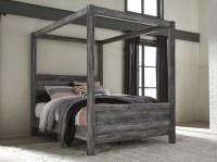 Baystorm Gray Queen Canopy Bed from Ashley | Coleman Furniture