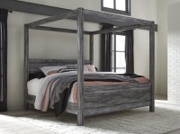 Baystorm Gray King Canopy Bed from Ashley | Coleman Furniture